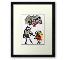 Adventure Time with Batman and Robin Framed Print