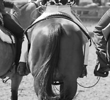 Rodeo Bums - Black and White by Michelle Wrighton