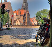 Belfry in Brugges by Suraj Mathew