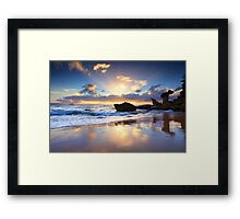 Beach sunrise at Noraville NSW Australia seascape landscape Framed Print