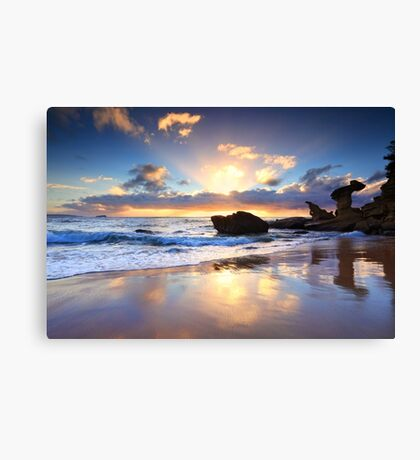 Beach sunrise at Noraville NSW Australia seascape landscape Canvas Print