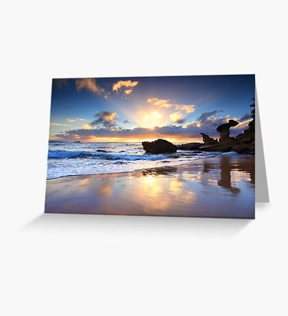 Beach sunrise at Noraville NSW Australia seascape landscape Greeting Card