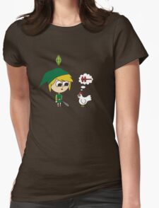 Link Sims Womens Fitted T-Shirt