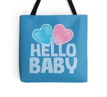 HELLO BABY newborn child greeting blue Tote Bag