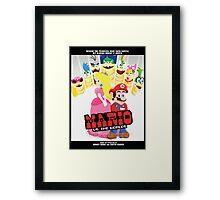 Mario Vs. The Worlds Framed Print