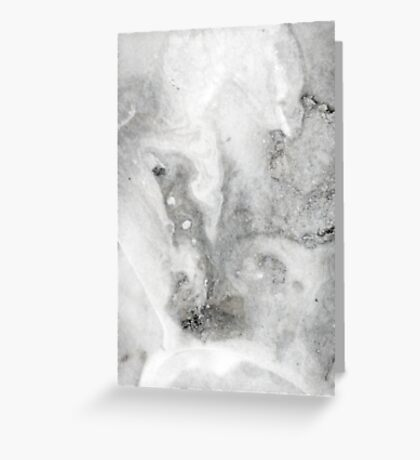 Black Ink Marble Greeting Card