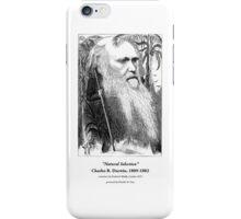 Charles Darwin Caricature 1873 iPhone Case/Skin