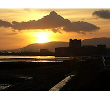 sunset over the castle ... Photographic Print