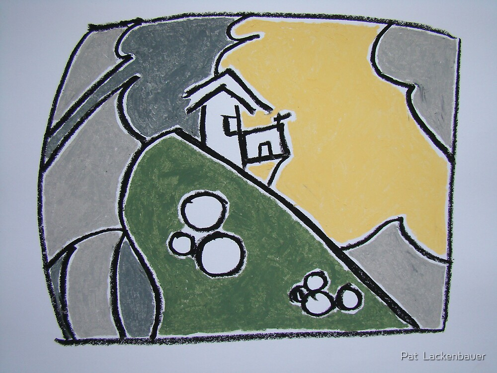 House On A Cliff by Pat  Lackenbauer