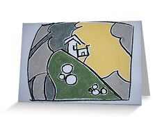 House On A Cliff Greeting Card