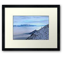 Islands in a see of clouds Framed Print