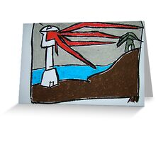 Stormy Lighthouse Greeting Card