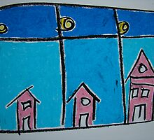 Little Pink Houses by Pat  Lackenbauer
