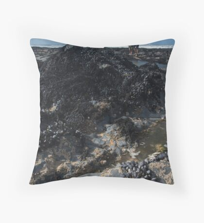 'Rockpool Diving' Throw Pillow