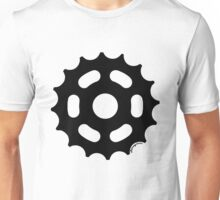 Large Sprocket Black Unisex T-Shirt