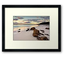 Hyams Beach Jervis Bay at sunrise  landscape seascape Framed Print
