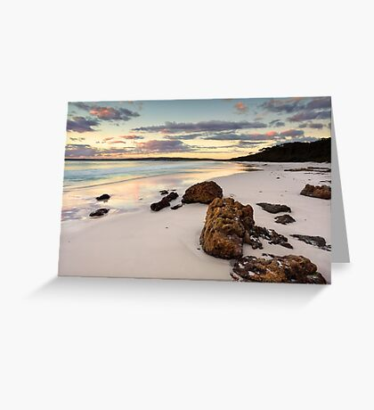 Hyams Beach Jervis Bay at sunrise  landscape seascape Greeting Card