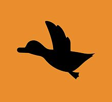 Duck Hunt Symbol - Super Smash Bros. (black) by hopperograss