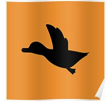 Duck Hunt Symbol - Super Smash Bros. (black) Poster