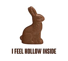 I Feel Hollow Inside Chocolate Easter Bunny Photographic Print