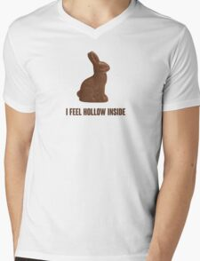 I Feel Hollow Inside Chocolate Easter Bunny Mens V-Neck T-Shirt