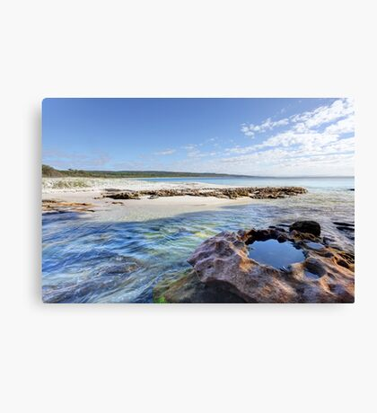 Flat Rock Creek, Hyams Beach Australia landscape seascape Canvas Print