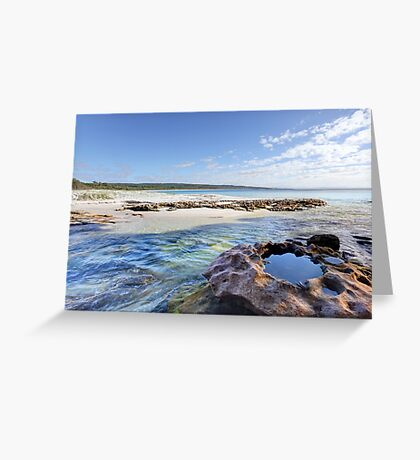 Flat Rock Creek, Hyams Beach Australia landscape seascape Greeting Card