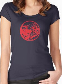 Earthbound Symbol - Super Smash Bros. (color) Women's Fitted Scoop T-Shirt