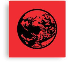 Earthbound Symbol - Super Smash Bros. (black) Canvas Print