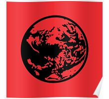 Earthbound Symbol - Super Smash Bros. (black) Poster