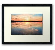 Long Jetty sunset Australia seascape Framed Print