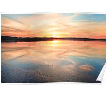 Long Jetty sunset Australia seascape Poster