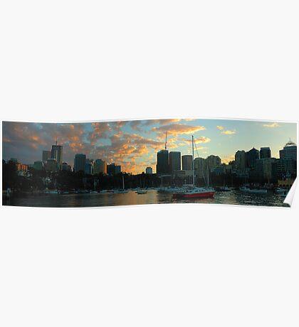 Dawn Light - Sydney Harbour, Sydney Australia Poster