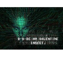 BE MY VALENTINE -- INSECT. Photographic Print