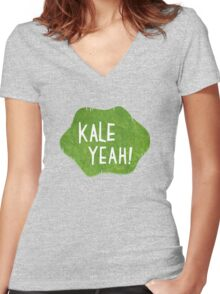 Kale Yeah! Women's Fitted V-Neck T-Shirt