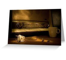 Radio Electricity Greeting Card