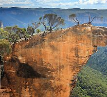 Hanging Rock Blue Mountains Australia by Leah-Anne Thompson