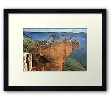 Hanging Rock Blue Mountains Australia Framed Print