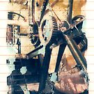 Polaroid Transfer - First Steam Engine in Australia by David Amos