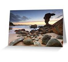 Beach Sunrise Noraville Central Coast NSW Australia seascape landscape Greeting Card