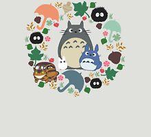 My Neighbor Totoro Wreath - Anime, Catbus, Soot Sprite, Blue Totoro, White Totoro, Mustard, Ochre, Umbrella, Manga, Hayao Miyazaki, Studio Ghibl T-Shirt
