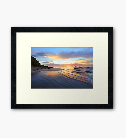Magnificent sunrise morning at Bateau beach Australia seascape landscape Framed Print