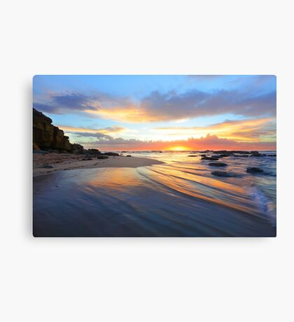 Magnificent sunrise morning at Bateau beach Australia seascape landscape Canvas Print