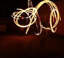 Fire twirling by Melani