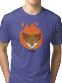 The Green-eyed Foxy Tri-blend T-Shirt
