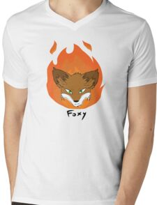 The Green-eyed Foxy Mens V-Neck T-Shirt