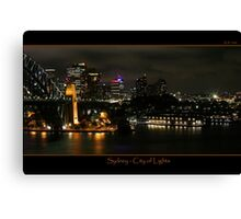 Sydney - City of Lights Canvas Print