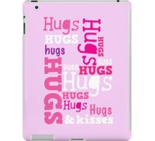 Cute hugs word design iPad Case/Skin