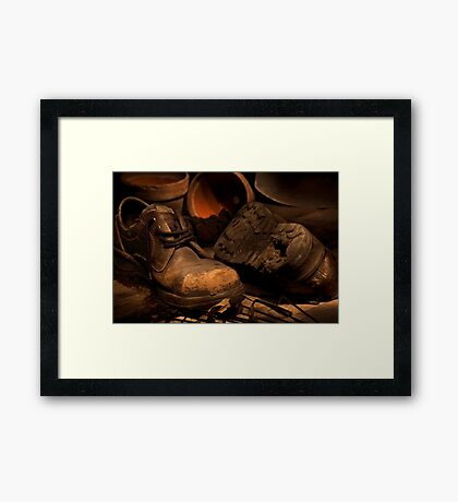 The Gardner's Shed Framed Print