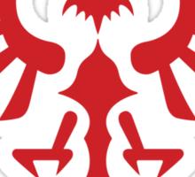 Hylian Crest (red) Sticker